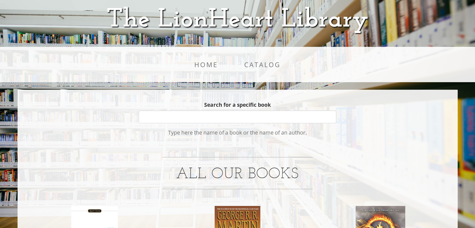 search form on a library website